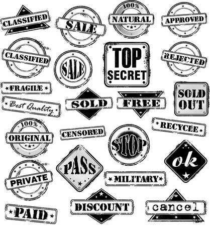 zertifizierung: Zeichen-Stamp Illustration