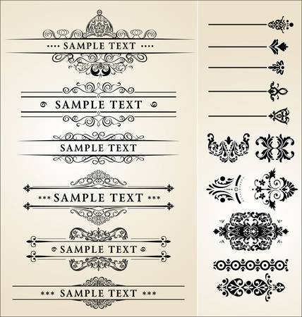 formal: calligraphic design set
