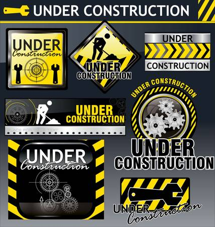 Under construction Stock Vector - 9746816