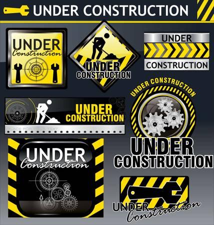 internet traffic: Under construction Illustration