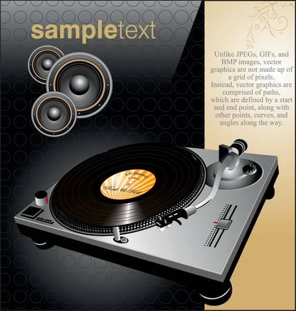 party dj: arri�re-plan de vinyle �l�gant Illustration