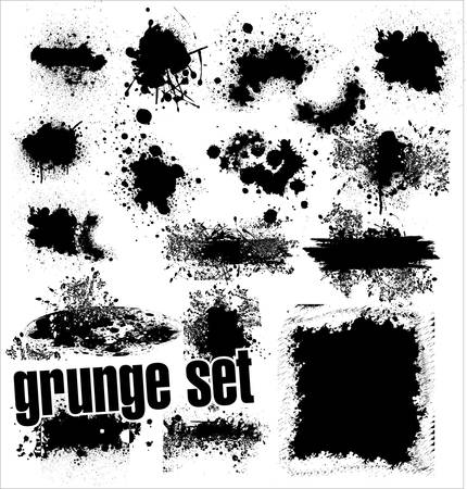 ink in water: Grunge Set