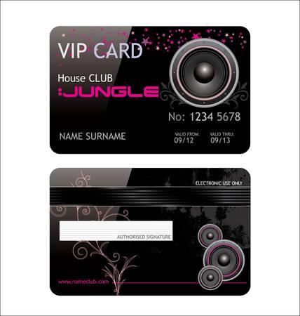 elegant vip music club card