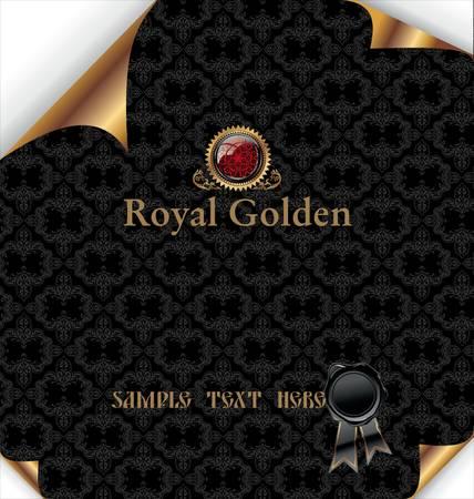 Royal black Background Stock Vector - 9857519