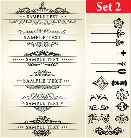Calligraphic Design Set Stock Vector - 9857516