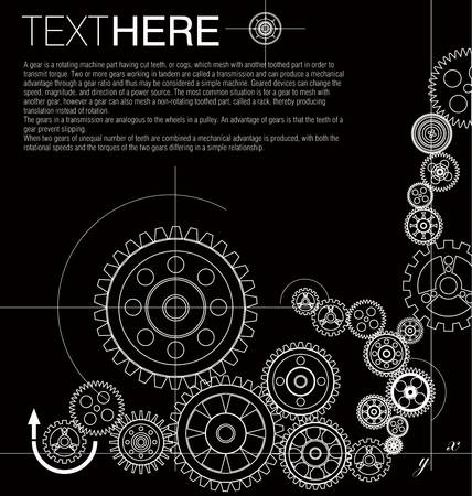 time machine: Contexte Gears Illustration