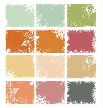 postcard: Retro color Background
