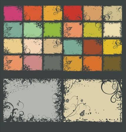 grunge leaf: Retro color Background