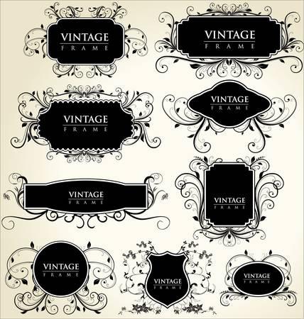 elegance vintage frames Stock Vector - 9857985