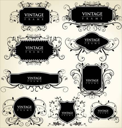 aristocrat: elegance vintage frames Illustration