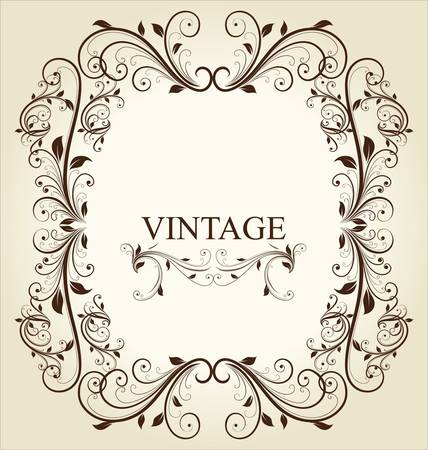Frame Vintage Old Ornament Vector