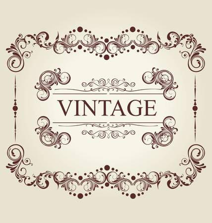 Frame Vintage Old Ornament Stock Vector - 9857530