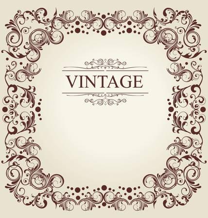 Frame Vintage Old Ornament Vector