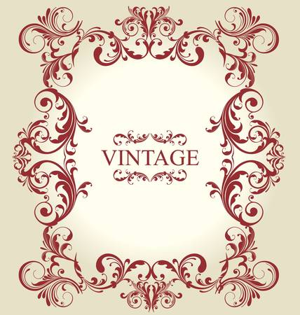 Frame Vintage Old Ornament Stock Vector - 9858049