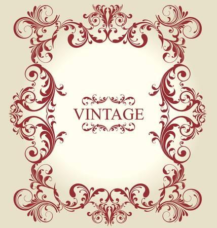Frame Vintage Old Ornament Stock Vector - 9858049