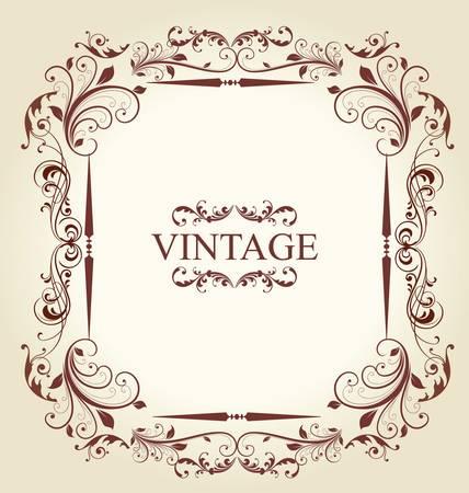 Frame Vintage Old Ornament Stock Vector - 9857531