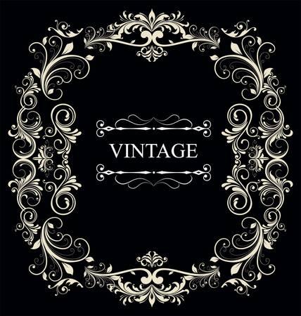 Frame Vintage Old Ornament Stock Vector - 9857532