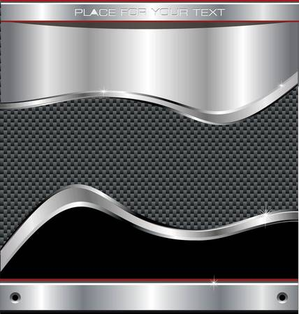 Metal carbon fiber shiny Background Vector