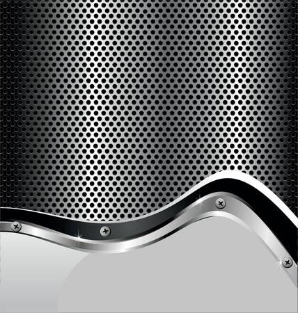 stainless steel: Perforated metal background