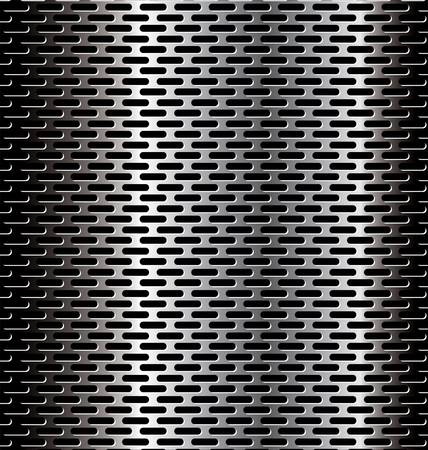 metal grid: Perforated metal background