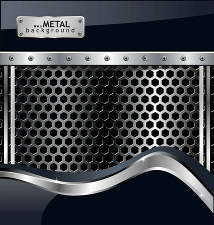 Fondo de metal perforado