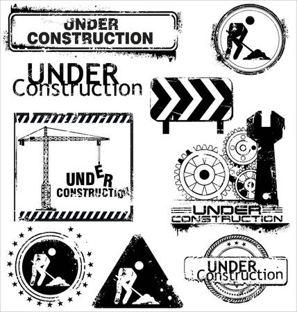 construction icon: Grunge Under construction Illustration