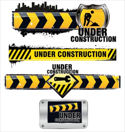the roadside: Under construction Illustration