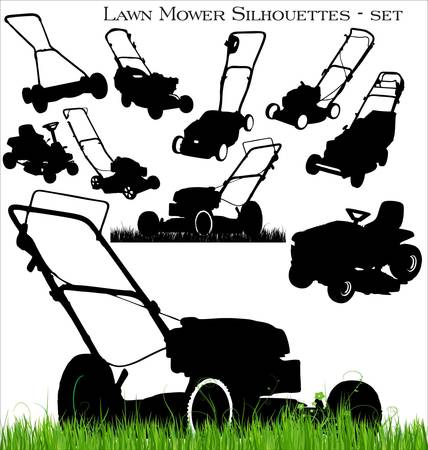 lawn mower set Illustration