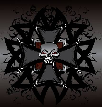 ace of clubs: Skull  design