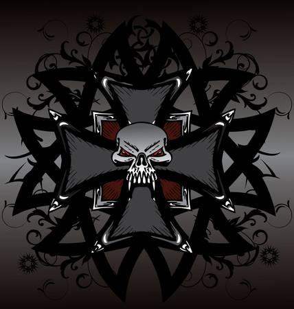 ace of spades: Skull  design