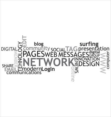 Social media background Stock Vector - 9931730