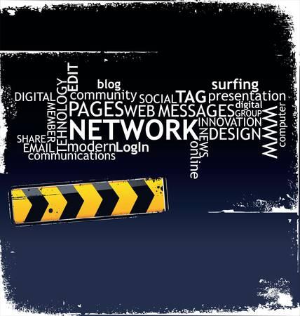 communicatie: Social media achtergrond Stock Illustratie