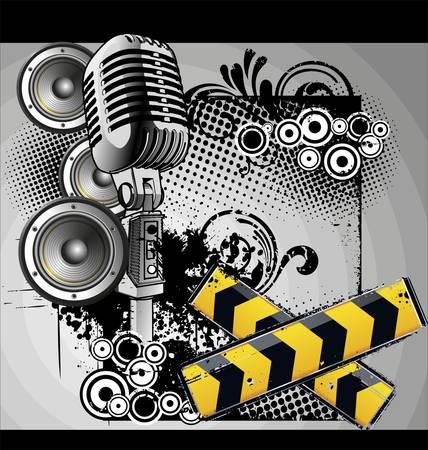Urban music grunge banner Stock Vector - 9944549