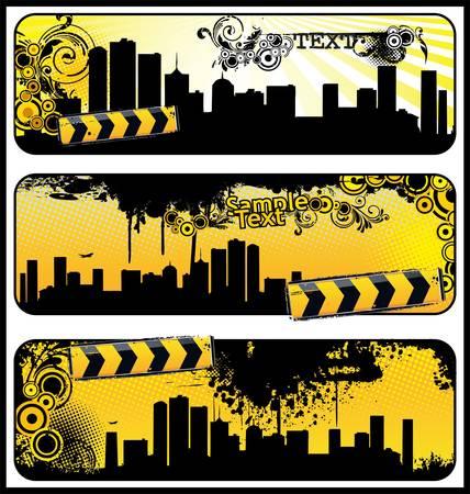 poison arrow: grunge floral city banner