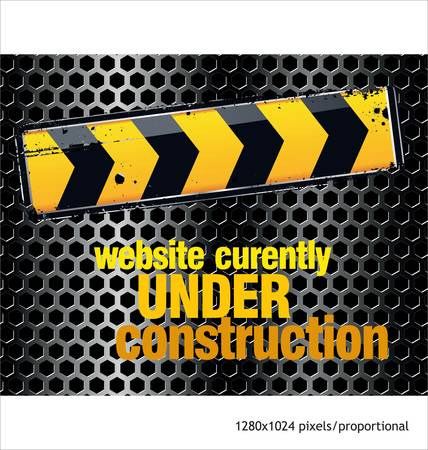 website security: under construction background Illustration