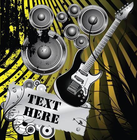 grunge music  background Stock Vector - 9944719