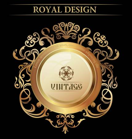 royal background: Vintage Royal Design element