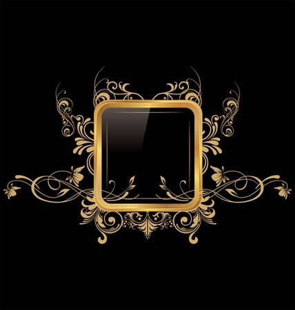 luxurious: Abstract Floral Frame