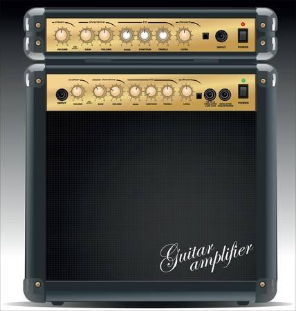 Guitar combo Stock Vector - 9945300
