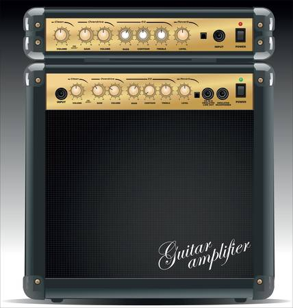 amplification: Zone de liste d�roulante guitare Illustration