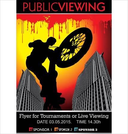 brave of sport: Public Viewing - BMX Tournament Illustration