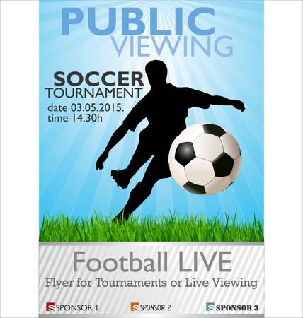 dribbling: Public Viewing - Soccer Tournament Illustration