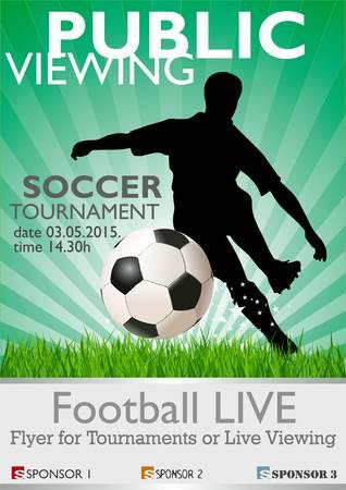 offside: Public Viewing - Soccer Tournament Illustration