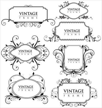 Marcos vintage elegancia Ilustración de vector