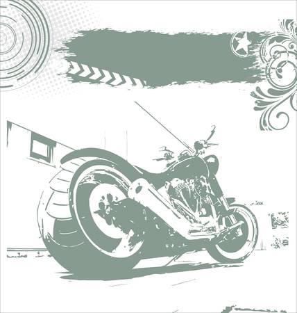 motorcycle road: grunge motorbike background