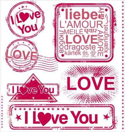 stamps: I love you stamps