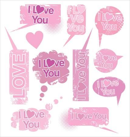 Love Speach bubbles Stock Vector - 10032040