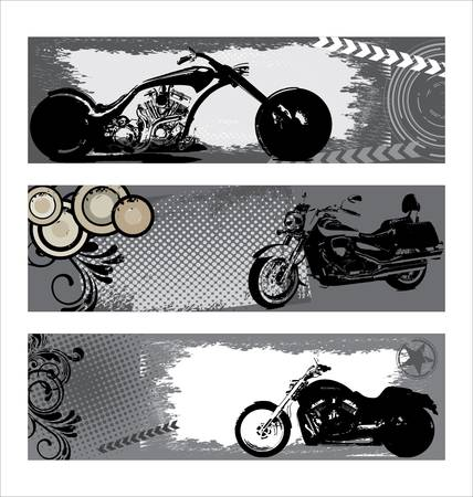 old diary: grunge motorbike banners