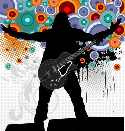 heavy metal music: Musica di sottofondo astratto Vettoriali