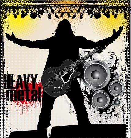 heavy: heavy metal Illustration